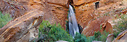Deer Creek Falls tumbles into the Colorado River at mile 136 in the Grand Canyon in Arizona