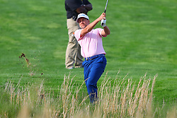 May 16, 2019 - Farmingdale, NY, U.S. - FARMINGDALE, NY - MAY 16:  Ian Poulter of England hits from the fairway on the 18th hole during the first round of the 2019 PGA Championship at the Bethpage Black course on May 16, 2019 in Farmingdale, New York. (Photo by Rich Graessle/Icon Sportswire) (Credit Image: © Rich Graessle/Icon SMI via ZUMA Press)
