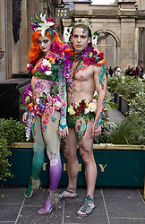 Performers dressed in exotic costumes welcomed guests to the lauch of the new Ivy restaurant in Buchanan St, Glasgow. Pic copright Terry Murden @edinburghelitemedia