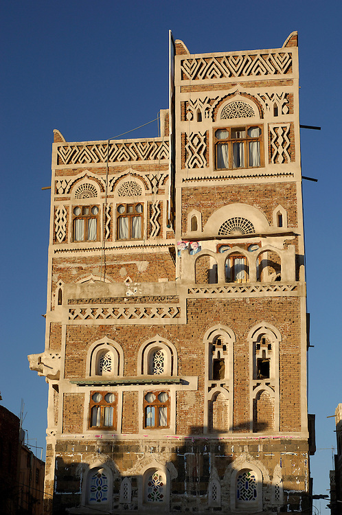 Historic Buildings, Old City, Sana'a, North Yemen, Yemen, Arabian Peninsula
