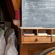 Flour mill note board,  PRN the Livradois-Forez, St. Dier d'Auvergne, Auvergne, France
