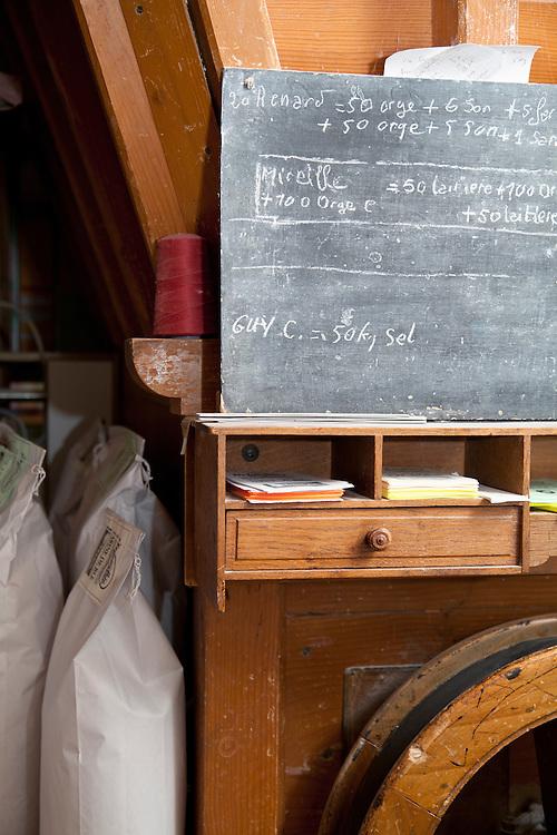 Flour mill note board,  PRN the Livradois-Forez, St. Dier d'Auvergne, Auvergne, France