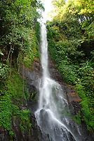 Close-up shot of the tumbling waterfall at Gitgit.
