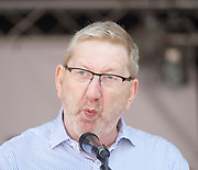 The People's Assembly - Not One Day More -  National Demonstration Parliament Square, London, Great Britain <br /> 1st July 2017 <br /> <br /> <br /> Len McCluskey General Secretary Unite the Union<br /> <br /> <br /> <br /> <br /> Photograph by Elliott Franks <br /> Image licensed to Elliott Franks Photography Services