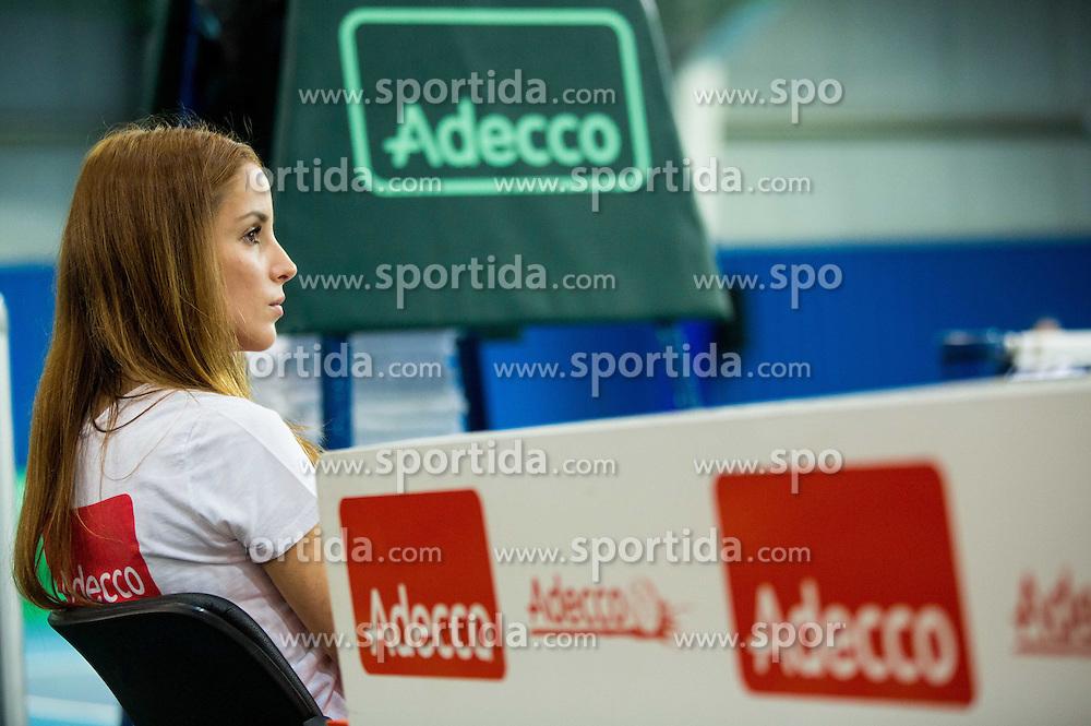 Adecco during Davis Cup Slovenia vs Lithuania competition, on October 30, 2015 in Kranj, Slovenia. Photo by Vid Ponikvar / Sportida