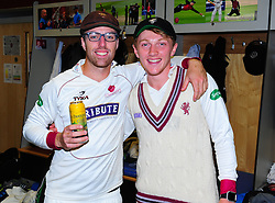 Jack Leach and Dom Bess of Somerset pose for a photo.  - Mandatory by-line: Alex Davidson/JMP - 22/09/2016 - CRICKET - Cooper Associates County Ground - Taunton, United Kingdom - Somerset v Nottinghamshire - Specsavers County Championship Division One