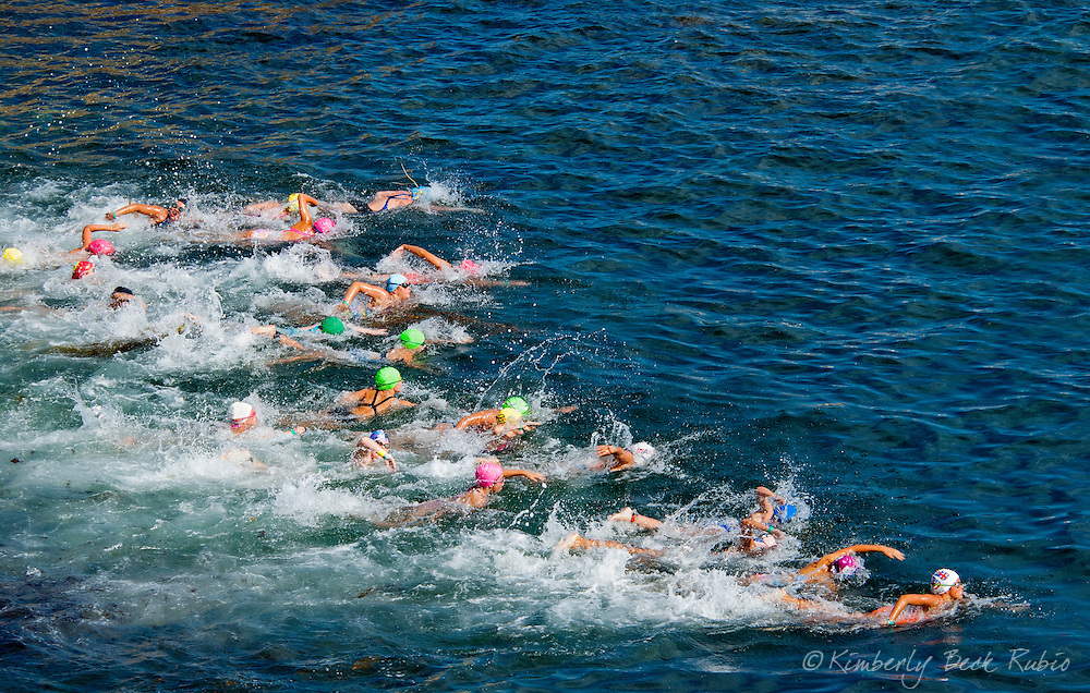 La Jolla Rough Water Swim, girls age 10 years old.