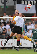 Dartford - Saturday July 11 2009: Gary Doherty of Norwich City and Lee Burns of Dartford during the friendly match at Princes Park. (Pic by Alex Broadway/Focus Images)..