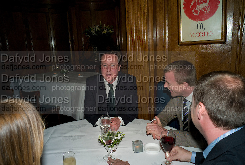 DAVID CAMERON; GUY RITCHIE; MATTHEW FREUD, Book launch for Citizen by Charlie Brooks. Tramp. London. 1 April  2009