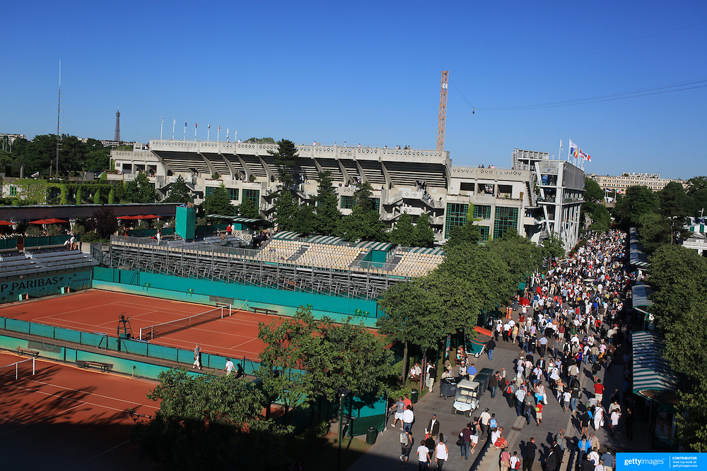 The French Open Tennis Tournament at Roland Garros in Paris, France on Friday, May 29, 2009. Photo Tim Clayton.