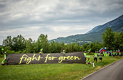 Supporters in Ajdovscina during 4th Stage of 26th Tour of Slovenia 2019 cycling race between Nova Gorica and Ajdovscina (153,9 km), on June 22, 2019 in Slovenia. Photo by Vid Ponikvar / Sportida