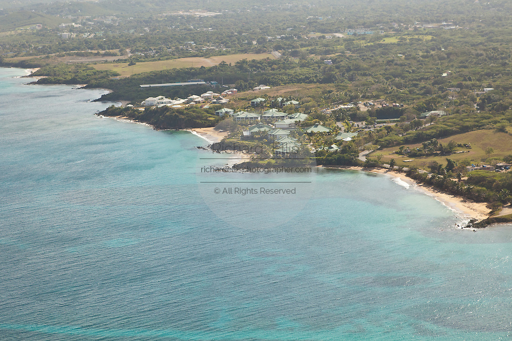 Aerial of the W Resort & Spa on Vieques Island, Puerto Rico.