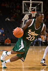 South Florida guard Dominique Jones (20) in action against UVA.  The Virginia Cavaliers defeated the South Florida Bulls 77-75 at the University of Virginia's John Paul Jones Arena in Charlottesville, VA on November 19, 2008.
