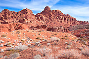 Unworldy Landscape of Valley of Fire State Park, Nevada