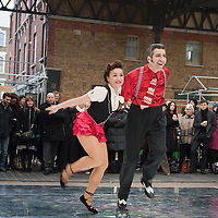 LONDON, ENGLAND - JANUARY 20:  Dancers from Greenwich Dance Agency perform at The Big Dance 2010 Launch  at the Old Spitafields Market on January 20, 2010 in London, England. 10,000 people expected to take part in The Big Dance which will take place between July 3-11.  (Photo by Marco Secchi/Getty Images)