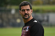 Julian Speroni looking calm and relaxed ahead of the Final Third Development League match between U21 Crystal Palace and U21 Coventry City at Selhurst Park, London, England on 12 October 2015. Photo by Michael Hulf.