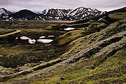 The landscape of Fjallabak Nature Reserve, on the way to Landmannalaugar
