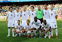 Fotball , 18. juni 2009<br /> hinten v.l. Clint Dempsey, Jonathan Spector, Jay DeMerit, Sacha Kljestan, Torwart Tim Howard, Oguchi Onyewu, Michael Bradley<br /> vorne v.l. Landon Donovan, Jonathan Bornstein, Jozy Altidore, DaMarcus Beasley USA<br /> Fussball Confederations Cup 2009 in Suedafrika, USA - Brasilien 0:3<br /> lagbilde USA<br /> Norway only
