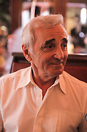 Aznavour charles in a TV shooting BE AZN