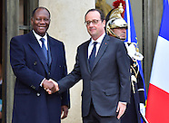 Paris - Francois Hollande Meets Alassane Ouattara - 21 Nov 2016