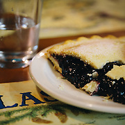 A slice of berry pie for desert after riding the Resurrection Pass Trail in Cooper Landing, Alaska.