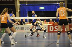 19-04-2008 VOLLEYBAL: AMVJ - DELA MARTINUS: AMSTELVEEN<br /> Martinus wint ook de derde wedstrijd in de best of 7 en is nog een overwinning verwijderd van het landskampioenschap / Wieneke Verweij<br /> &copy;2008-WWW.FOTOHOOGENDOORN.NL