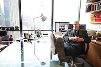 David Granger, editor-in-chief of Esquire magazine, in his New York offices in the Hearst Building in Manhattan...Photo by Robert Caplin.