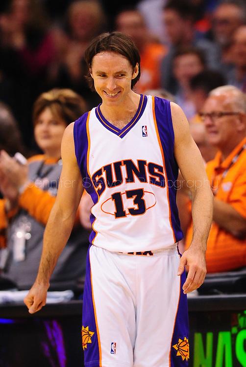 Mar. 14 2010; Phoenix, AZ, USA; Phoenix Suns guard Steve Nash (13) in the first half at the US Airways Center. The Suns defeat the Hornets 120 to 106. Mandatory Credit: Jennifer Stewart-US PRESSWIRE.