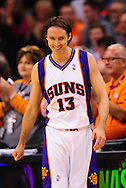 Mar. 14 2010; Phoenix, AZ, USA; Phoenix Suns guard Steve Nash (13) in the first half at the US Airways Center. The Suns defeat the Hornets 120 to 106. Mandatory Credit: Jennifer Stewart-US PRESSWIRE.