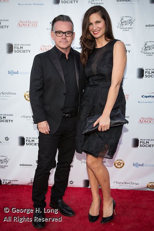 "T.G. Herrington, Executive Producer of ""The Free State of Jones"" and Nicelle Herrington; New Orleans Film Society Gala at the home of Paul and Sara Costello on March 28, 2015; Photo: GeorgeLong.com"