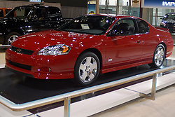06 February 2005:    2005 or 2006 Chevrolet Monte Carlo SS<br /> <br /> First staged in 1901, the Chicago Auto Show is the largest auto show in North America and has been held more times than any other auto exposition on the continent.  It has been  presented by the Chicago Automobile Trade Association (CATA) since 1935.  It is held at McCormick Place, Chicago Illinois