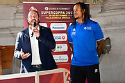 diana moss<br /> presentazioe supercoppa 2018<br /> Legabasket Serie A 2018/19<br /> Brescia, 24/09/2018<br /> Ciamillo-Castoria
