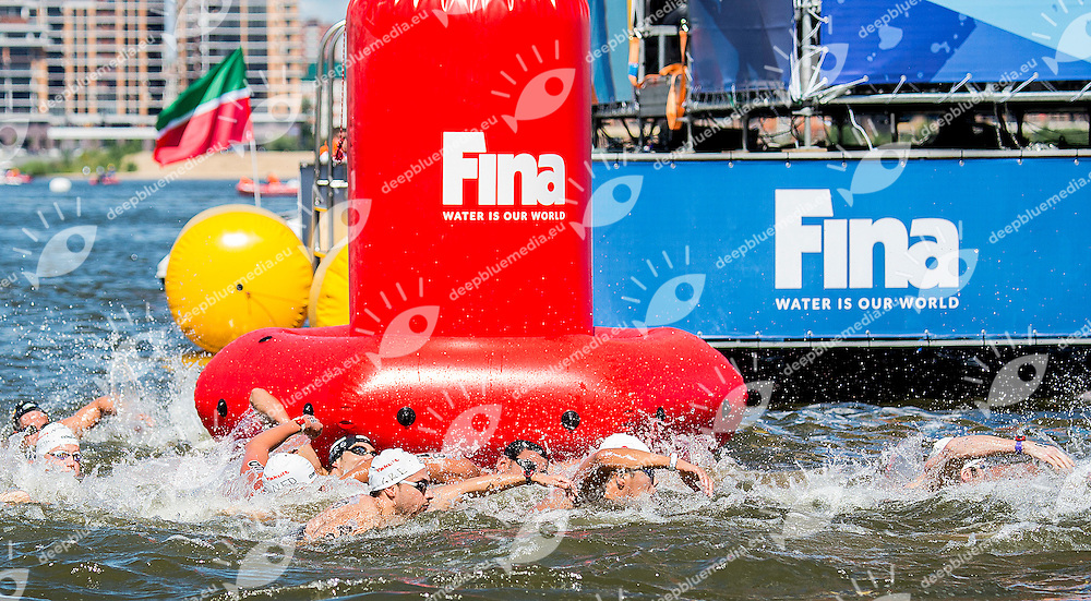 Race<br /> Open Water 10km Men - Kazanka River<br /> Day04 27/07/2015<br /> XVI FINA World Championships Aquatics Swimming<br /> Kazan Tatarstan RUS July 24 - Aug. 9 2015 <br /> Photo A.Masini/Deepbluemedia/Insidefoto