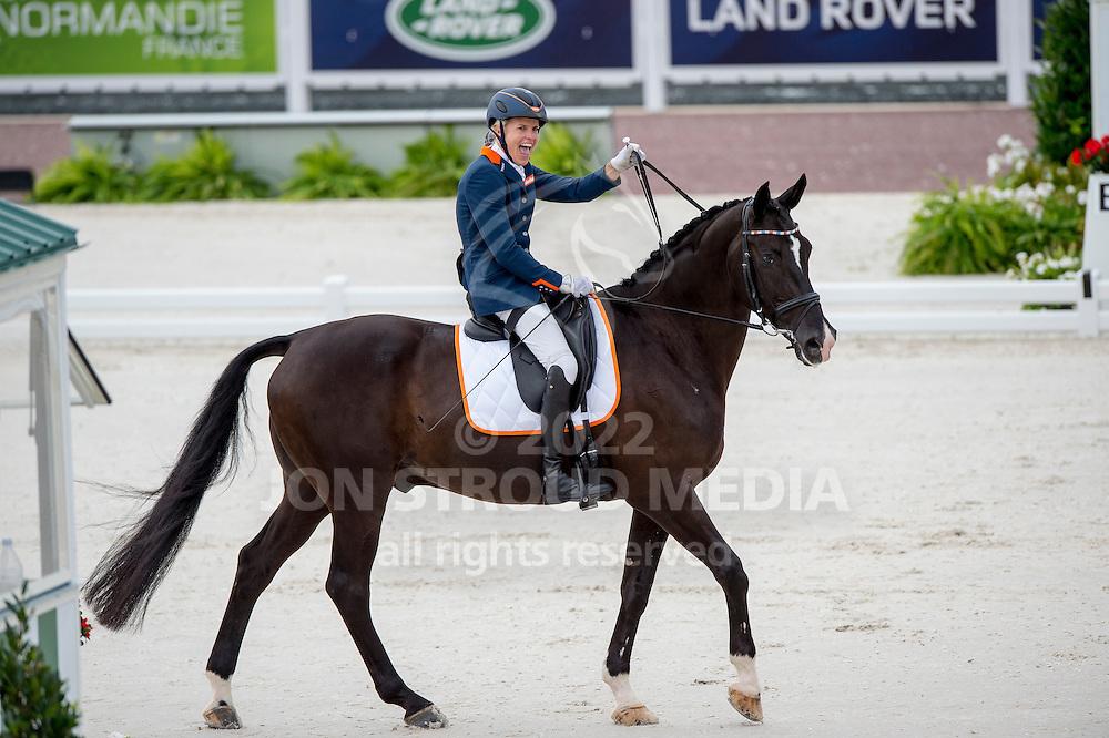 Nicole den Dulk, (NED), Wallace - Individual Test Grade Ib Para Dressage - Alltech FEI World Equestrian Games&trade; 2014 - Normandy, France.<br /> &copy; Hippo Foto Team - Jon Stroud <br /> 25/06/14