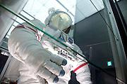 display of NASA astronaut space suit