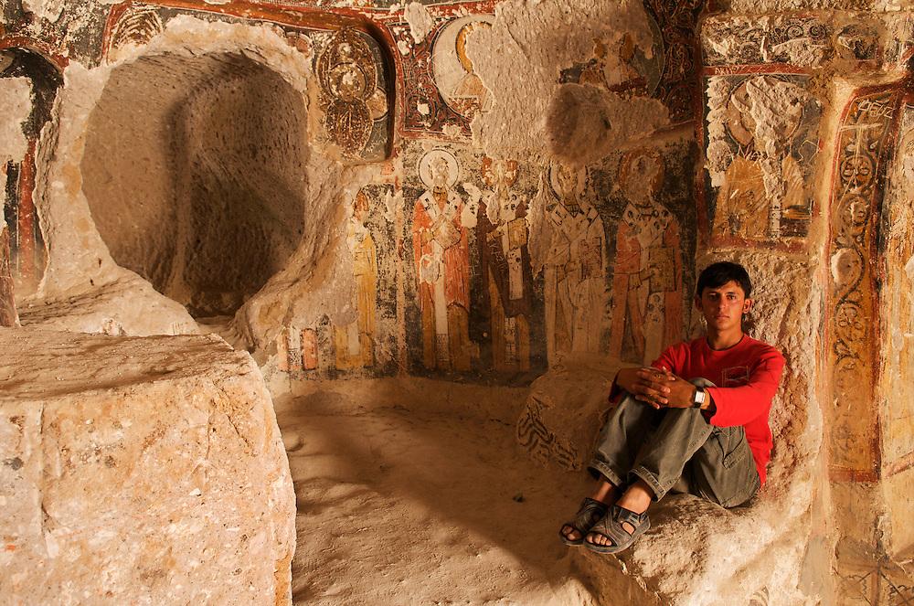 St. Barbara Church.<br /> Songali, Cappadocia.<br /> Turkey.
