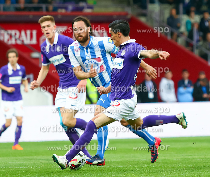02.05.2015, Generali Arena, Wien, AUT, 1. FBL, FK Austria Wien vs SC Wiener Neustadt, 31. Runde, im Bild David De Paula (FK Austria Wien) beim Schuss zum Tor zum 1:0 // during Austrian Football Bundesliga Match, 31th round, between FK Austria Vienna and SC Wiener Neustadt at the Generali Arena, Wien, Austria on 2015/05/02. EXPA Pictures © 2015, PhotoCredit: EXPA/ Sebastian Pucher