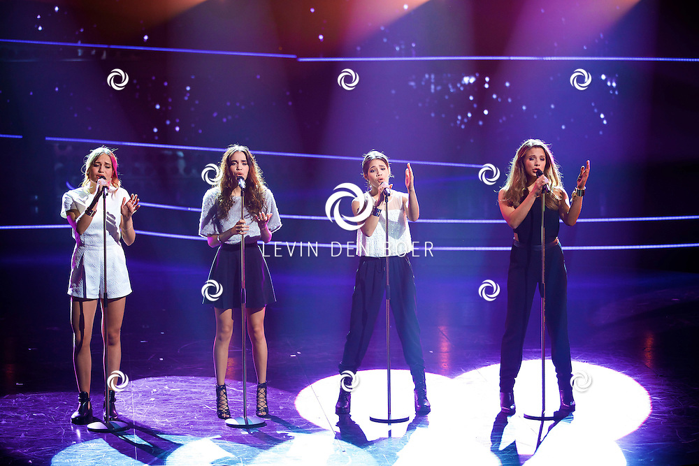 HILVERSUM - In Studio 24 zijn de finales van Holland's Got Talent 2014. Met hier op de foto  de meidengroep TP4Y. FOTO LEVIN DEN BOER - PERSFOTO.NU