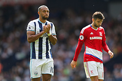 Matt Phillips of West Bromwich Albion looks frustrated - Rogan Thomson/JMP - 28/08/2016 - FOOTBALL - The Hawthornes - West Bromwich, England - West Bromwich Albion v Middlesbrough - Premier League.