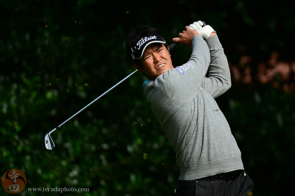 July 20, 2012; St. Annes, ENGLAND; Toshinori Muto tees off on the 1st hole during the second round of the 2012 British Open Championship at Royal Lytham & St. Annes Golf Club.