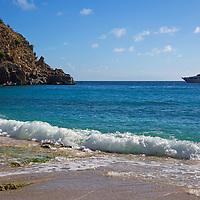 France, St. Barts, Gustavia. Shell Beach, or Anse De Grand Galet.