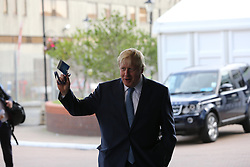 Image licensed to i-Images Picture Agency. 29/09/2014. Birmingham, United Kingdom. Conservative Party Conference-Day Two.Mayor of London Boris Johnson arriving  at the Conservative Party Conference in Birmingham  Picture by Stephen Lock / i-Images
