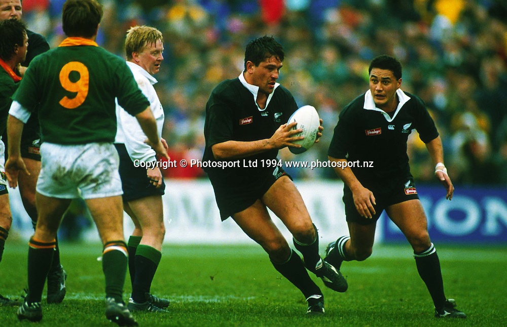 Zinzan Brooke. All Blacks v South Africa, 1994. Rugby Union, New Zealand. Photo: photosport.co.nz