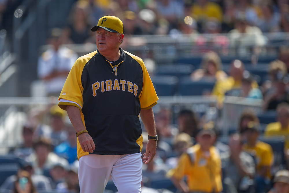 PITTSBURGH, PA - JUNE 08: Clint Hurdle #13 of the Pittsburgh Pirates looks on during the game against the Milwaukee Brewers at PNC Park on June 8, 2014 in Pittsburgh, Pennsylvania. (Photo by Rob Tringali) *** Local Caption *** Clint Hurdle