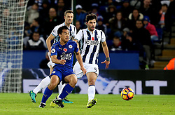 Shinji Okazaki of Leicester City passes the ball - Mandatory by-line: Robbie Stephenson/JMP - 06/11/2016 - FOOTBALL - King Power Stadium - Leicester, England - Leicester City v West Bromwich Albion - Premier League
