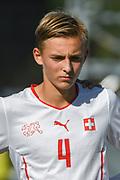 21.09.2017; Niederhasli; FUSSBALL U16 - Schweiz - Italien;<br /> Noah Henchoz (SUI) <br /> (Andy Mueller/freshfocus)