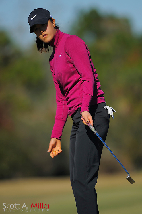 Dec. 7, 2008; Daytona, FL, USA; Michelle Wie during the final round of LPGA Qualifying School on the Champions Course at LPGA International. .©2008 Scott A. Miller..©2008 Scott A. Miller