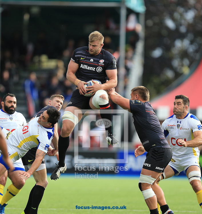 George Kruis of Saracens during the European Rugby Champions Cup match at Allianz Park, London<br /> Picture by Michael Whitefoot/Focus Images Ltd 07969 898192<br /> 18/10/2014