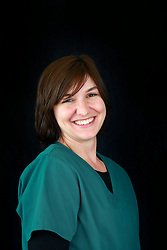 14 January 2014. New Orleans, Louisiana.<br /> Lakeview Veterinary Hospital Inc. <br /> Leanne Weaver, technician. <br /> Photo Credit; Charlie Varley/varleypix.com
