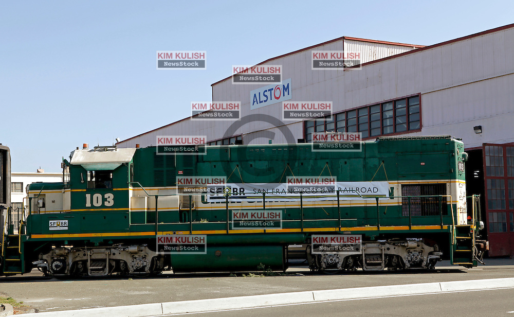 The first delivery of  Amtrak passenger rail cars arrive across  Wichel's Causeway to be refurbished at the new Alstom facility  opening on the former Mare Island  Naval Base.  Alstrom, based in France has a 2-year contract to upgrade passenger cars door systems at the new location.